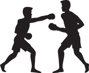 Boxing cartoon 2