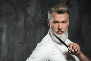 Grey beard & Scissors