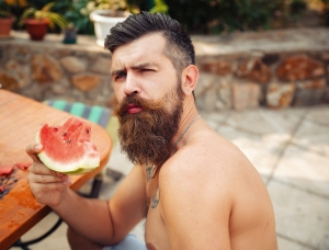 Bearded Man and Food